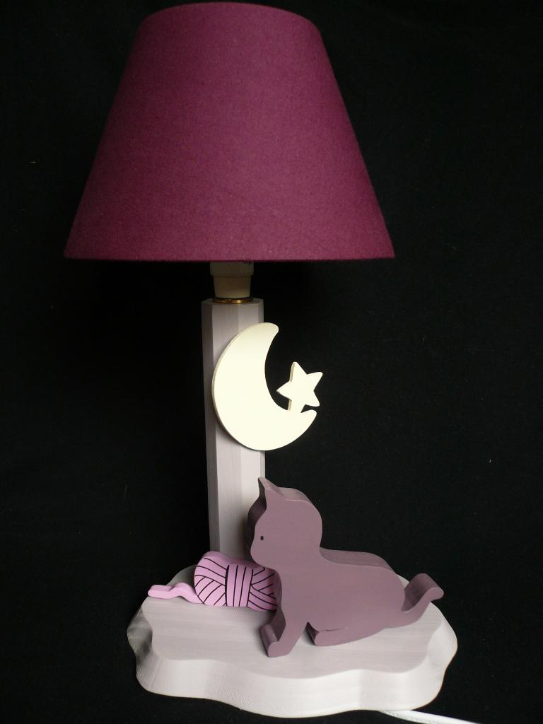 lampe de chevet petit chat. Black Bedroom Furniture Sets. Home Design Ideas