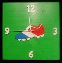 Horloge Foot France fond vert chiffres blanc