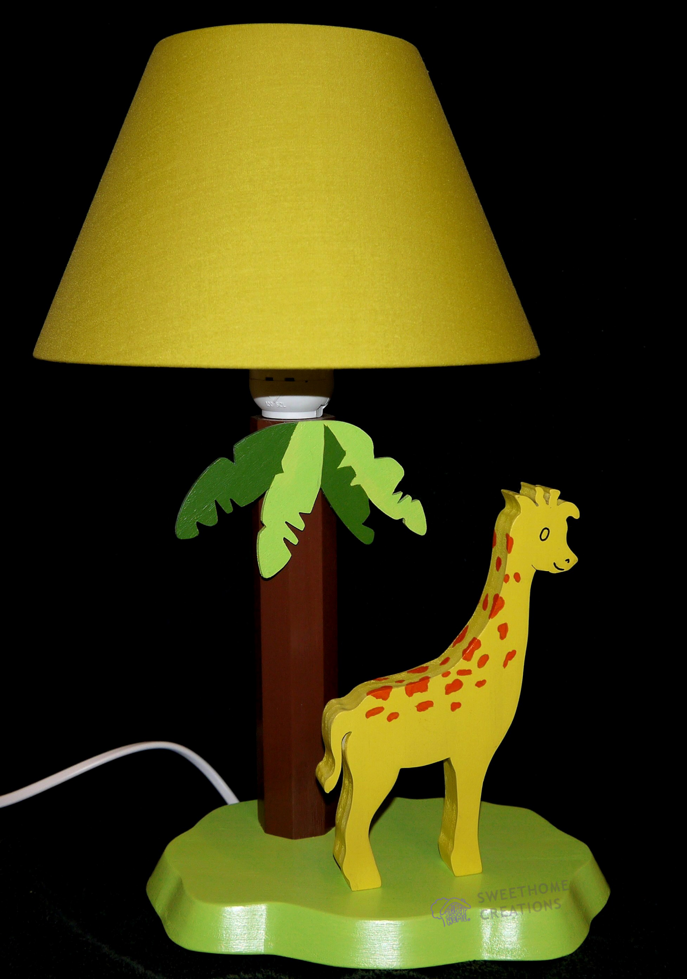 lampe de chevet girafe. Black Bedroom Furniture Sets. Home Design Ideas