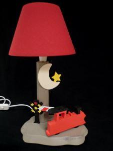 Nachttischlampe Dampflok