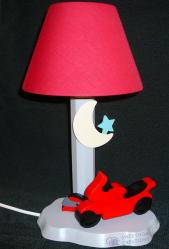 Lampe Motorrad rot, Schirm rot