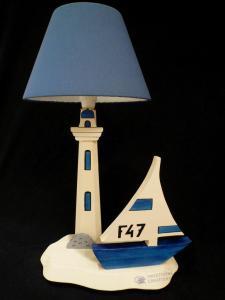 Lampe Voile, bleu