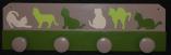 Patère chats, vert