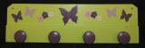 Patère papillons vert violine parme