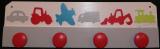 Patère vehicules blanc rouge gris bleu vert