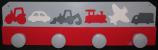 Patère véhicules gris rouge blanc