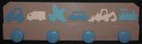 Patère véhicules taupe turquoise crème