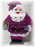 Adventskalender Nikolaus, violett
